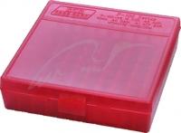 Коробка MTM для патронов кал. 17 HMR, 22WMR. на 100 патронов ц:красный. 17731016