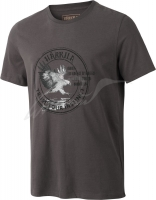 Футболка Harkila Wildlife Eagle. Размер - М. Цвет - серый. 17800588