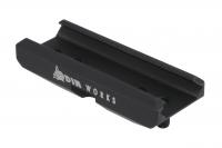 Низкопрофильный адаптер для сошек ODIN P-Pod на базу крепления Picatinny/Weaver Цвет - Черный. 15120096