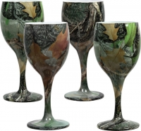 Набор бокалов Riversedge для вина Camo Wine Glasses листья. 18350100