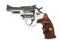 Револьвер под патрон Флобера Alfa mod. 431 никель/дерево. 14310058