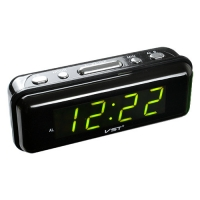 Часы сетевые VST-738-2 зеленые, 220V. 32835