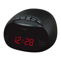 Часы сетевые VST-901-1 красные, радио FM, 220V. 32860