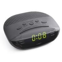 Часы сетевые VST-908-2 зеленые, радио FM, 220V. 32863