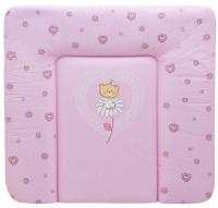 Пеленальный матрас Maltex мягкий 72х75 см  мишка на цветочке, розовый. 34534