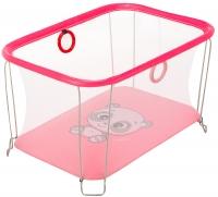 Манеж Qvatro Солнышко-02 мелкая сетка  розовый (panda). 34253