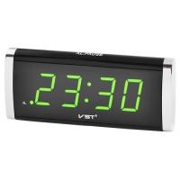 Часы сетевые VST-730-2 зеленые, 220V. 32830