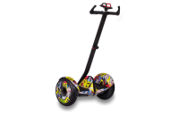 """Гироскутер с ручкой для детей и взрослых Monorim M1Robot Ninebot mini 10,5"""" (Music Edition) - Hand Drive PRO Hip-Hop yellow (Хип-Хоп Желтый). 31172"""