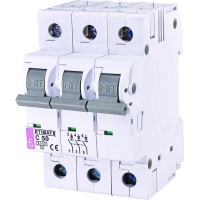 Автоматический выключатель ETI Выключатель автоматический ETIMAT 6 3p C 50А (6 kA) (2145521). 47999