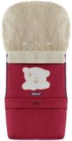 Зимний конверт Babyroom №20 с удлинением  бордовый (мордочка мишки штопаная). 33475