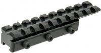"""Адаптер-крепление Leapers UTG AIRGUN с планки """"ласточкин хвост"""" на Weaver/Picatinny. Длина - 100 мм. 23700940"""