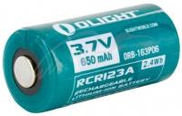 Аккумуляторная батарея Olight RCR 123 Li-Ion 650 mAh. 23701366