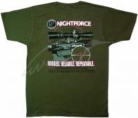 Футболка Nightforce AR-Themed. Цвет - зеленый. 23750158