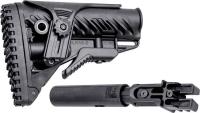 Приклад FAB Defense для AK 47/74 телескопический с регулируемой щекой. Цвет - черный. 24100004