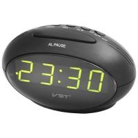 Часы сетевые VST-711-2 зеленые, USB. 32815