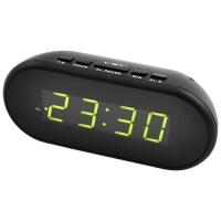 Часы сетевые VST-712-2 зеленые, USB. 32816