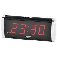 Часы сетевые VST-730-1 красные, 220V. 32829