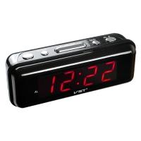 Часы сетевые VST-738-1 красные, 220V. 32834