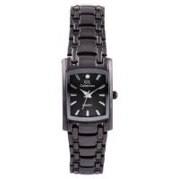 Часы наручные на браслете GL Collection 1067 L квадрат, черный. 32813
