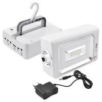 Фонарь переносной 6869, 16SMD+30SMD, ЗУ 220V, встроенный аккумулятор, power bank Lux. 32587
