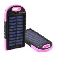 Power Bank Samsung ES500 8000mAh 2USB(1A+1A) с солнечной батареей, индикатор заряда, фонарик 1LED -142 Lux. 31635
