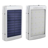 Power Bank Samsung 10000mAh 2USB(1A+2A) с солнечной батареей, индикатор заряда, фонарик 20SMD, ультрафиолет Lux. 31630