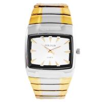 Часы наручные мужские на браслете GOLDLIS 1126 квадрат., комби. 32812