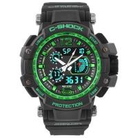 Часы наручные C-SHOCK GW-4000 Black-Green. 32724