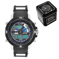 Часы наручные QUAMER 1104, Box, ремешок каучук, dual time, waterproof. 32770