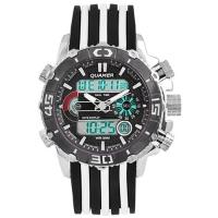 Часы наручные QUAMER 1320, ремешок каучук, dual time. 32775