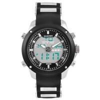 Часы наручные QUAMER 1605, ремешок каучук, dual time, waterproof. 32792