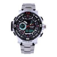 Часы наручные QUAMER 1730, стальной браслет, dual time, waterproof. 32805