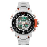Часы наручные QUAMER 1514, стальной браслет, dual time, waterproof. 32785