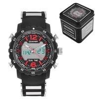 Часы наручные QUAMER 1604, Box, ремешок каучук, dual time, waterproof. 32790