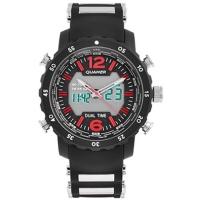 Часы наручные QUAMER 1604, ремешок каучук, dual time, waterproof. 32791