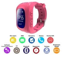 Smart часы Lux детские с GPS Q50-2, pink. 31654