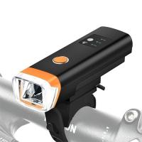 Фонарь велосипедный HJ-047-XPG, ЗУ micro USB, встроенный аккумулятор, датчик света, водостойкий Lux. 32428