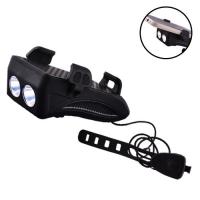 Фонарь велосипедный Lux FY-319-2LM(5W), ЗУ micro USB, встроенный аккумулятор, звонок + крепление под телефон. 32424