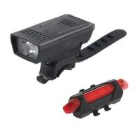 Фонарь велосипедный 1803-1-XPE, габарит 5LED, ЗУ micro USB, встроенный аккумулятор Lux. 32403