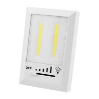 Подсветка универсальная в виде выключателя HB322/1708-2COB, магнит, липучки, 3хAAA Lux. 32036
