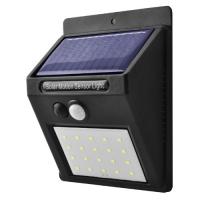 Настенный уличный светильник 6009-20SMD, 1x18650, PIR+CDS, солнечная батарея Lux. 32004