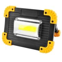 Прожектор светодиодный Lux L811-20W-COB+1W, ЗУ micro USB, 2x18650/3xAA, Power Bank, Box. 32055