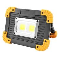 Прожектор светодиодный Lux L812-20W-2COB+1W, ЗУ micro USB, 2x18650/3xAA, Power Bank, Box. 32056