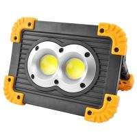 Прожектор светодиодный Lux L802-20W-2COB+1W, ЗУ micro USB, 2x18650/3xAA, Power Bank, Box. 32054