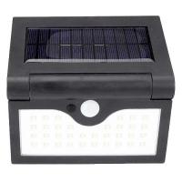 Настенный уличный светильник SH-090A-34SMD, 1x18650, PIR+CDS, солнечная батарея Lux. 32006