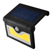Настенный уличный светильник SH-090B-COB, 1x18650, PIR+CDS, солнечная батарея Lux. 32007
