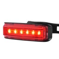 Фонарь велосипедный AQY-0115-6SMD (красный), ЗУ micro USB, встроенный аккумулятор Lux. 32412