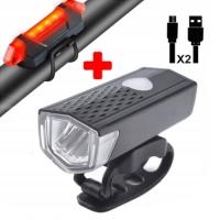 Фонарь велосипедный AQY-0108A-XPE, габарит 5LED, ЗУ micro USB, встроенный аккумулятор Lux. 32409