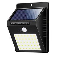 Настенный уличный светильник 609/XF-6014-35SMD, 1x18650, PIR+CDS, солнечная батарея Lux. 32005