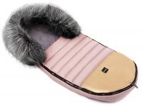 Зимний детский конверт Bair Polar premium  розовый (пудра) - золотая кожа. 31353